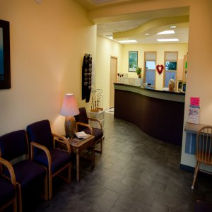 Waiting room & reception area.
